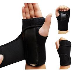 1pc Useful Splint Sprains Arthritis Band Belt Carpal Tunnel Hand Wrist Support Brace Solid Black Dropshipping