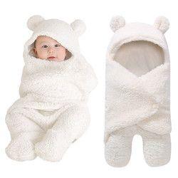 Manta de bebé recién nacido bebé Swaddle abrigo suave del lecho del bebé del invierno Manta de recepción Manta Bebes Sleeping Bag 0-12 m recién Nacidos
