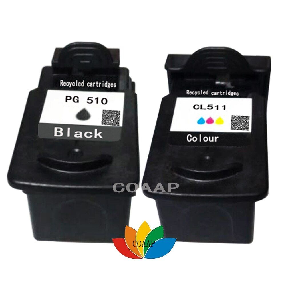 Refillable Canon PG510 Black & CL511 Colour Ink Cartridge For PIXMA MP240 MP250 MP260 MP280 MP495 MX410 MX420 Printer