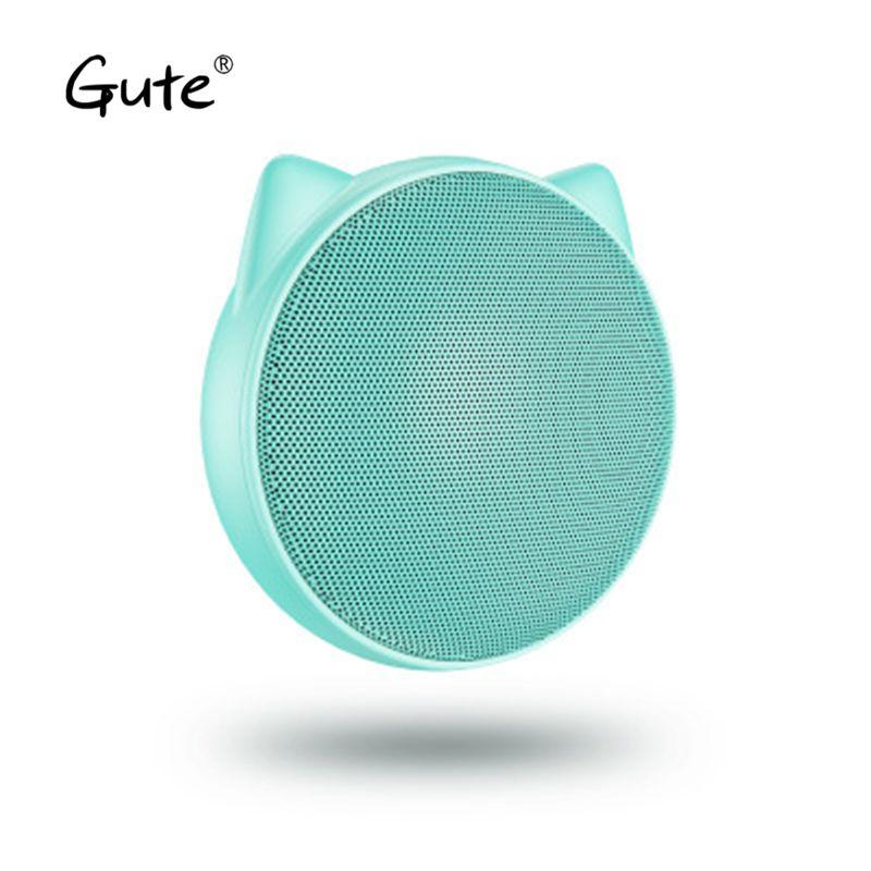 Gute Natasja fashion new Mini lovely bluetooth speaker portable Handsfree call cartoon kid christmas gift caixa de som portatil