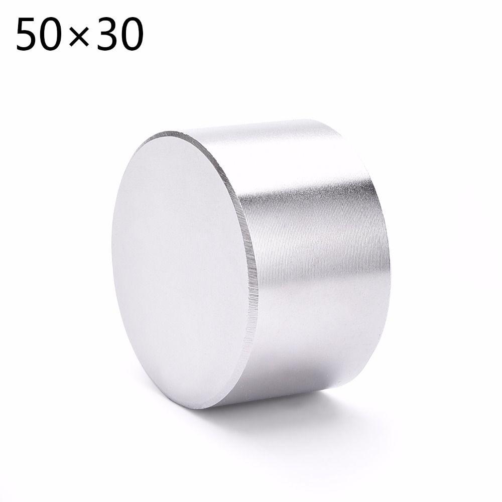 Aimant 1 pcs/lot N52 Dia 50x30mm chaude ronde aimant Forte aimants Rare Earth Néodyme Aimant 50x30mm en gros 50*30mm