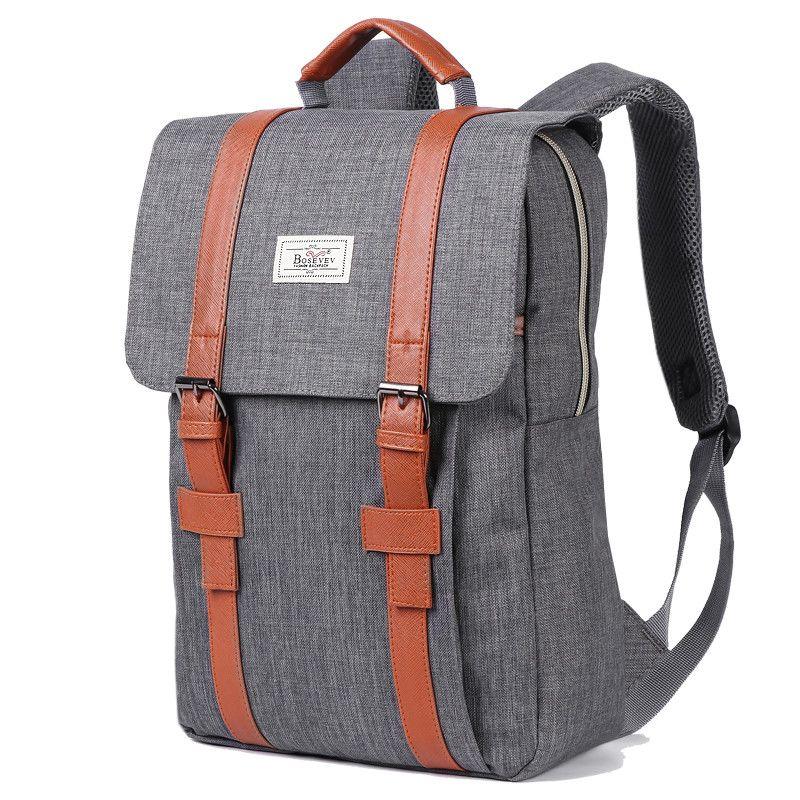 2019 Vintage hommes femmes toile sacs à dos sacs d'école pour adolescents garçons filles grande capacité sac à dos pour ordinateur portable mode hommes sac à dos