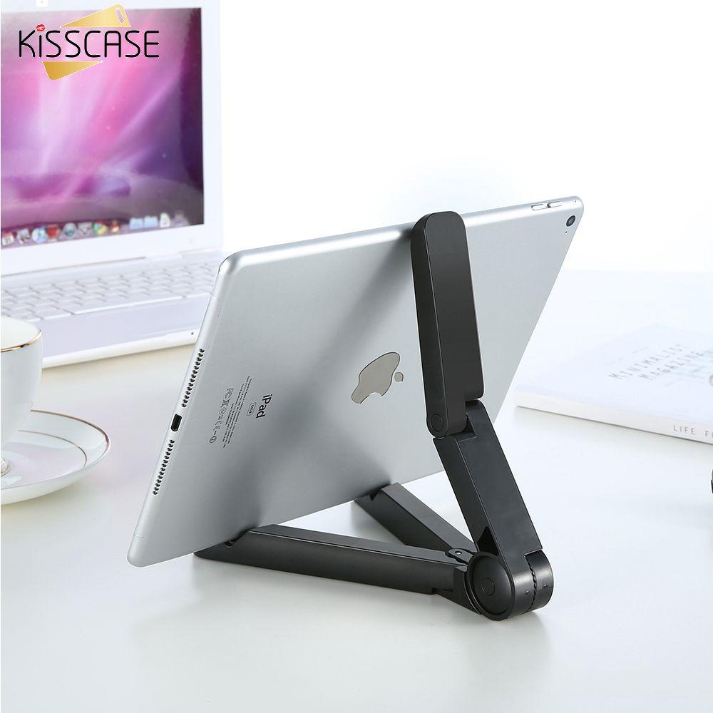 KISSCASE Telefon Ständer Halter 360 360-grad-drehende Klapplederabdeckung Universal Tablet PC klapp Faul Für iPad Air Mini 1 2 3 4 Für Samsung