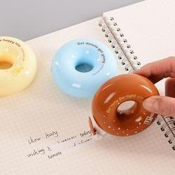 Novedad cute donut Cinta correctora diario papelería Escuela de suministro