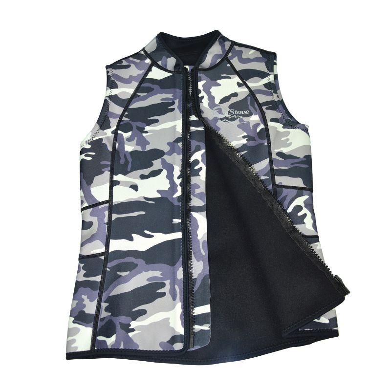 3mm Neoprene Wetsuit Vest Sleeveless Jacket for Spearfishing Underwater Hunting Surfing Scuba Diving K1601C