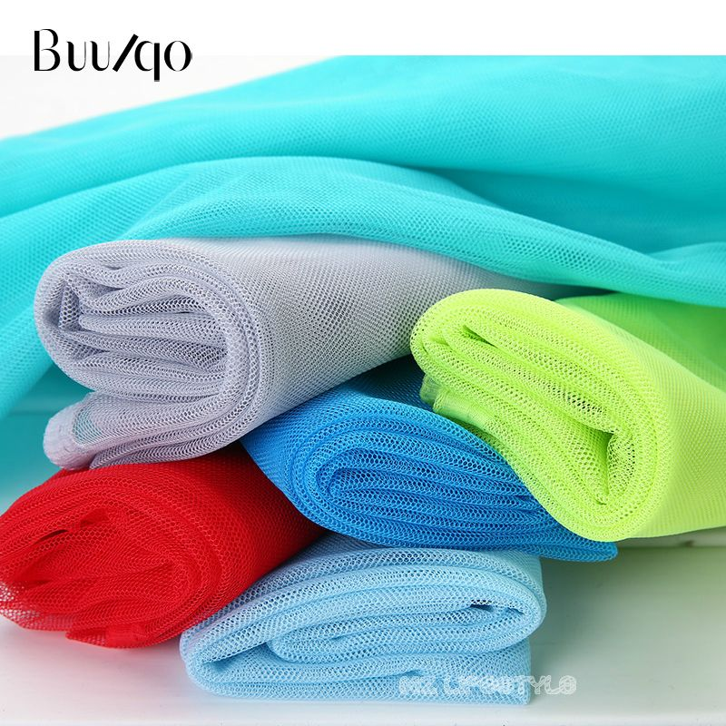 5meters/lot 30 eyes soft tulle gauze mosquito net gauze fabric solid color polyester mesh ground tulle roll for wedding dress
