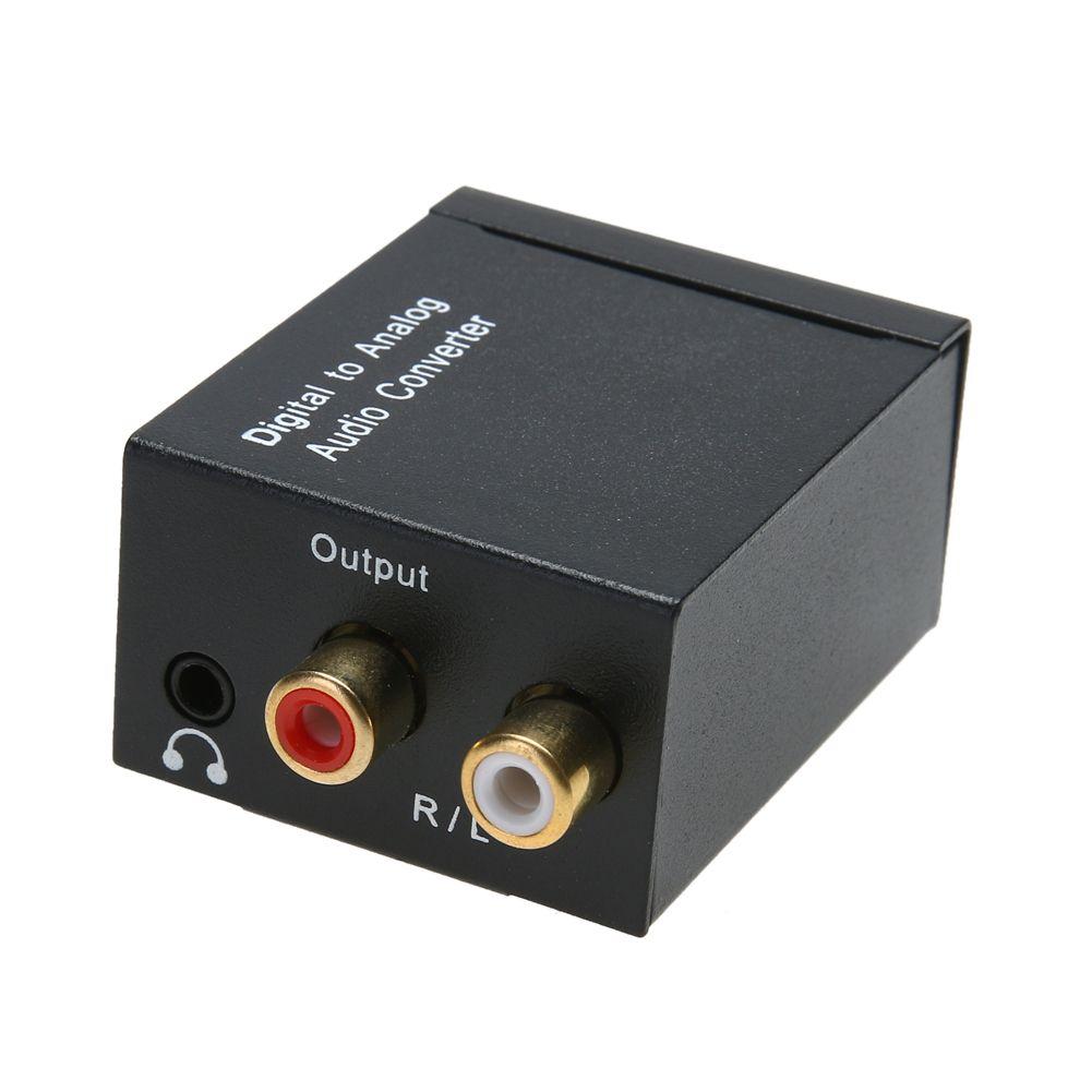3,5 MM Optical Coaxial Toslink Digital Analog Audiokonverter Adapter CINCH L/R Audio Adapter US/EU stecker