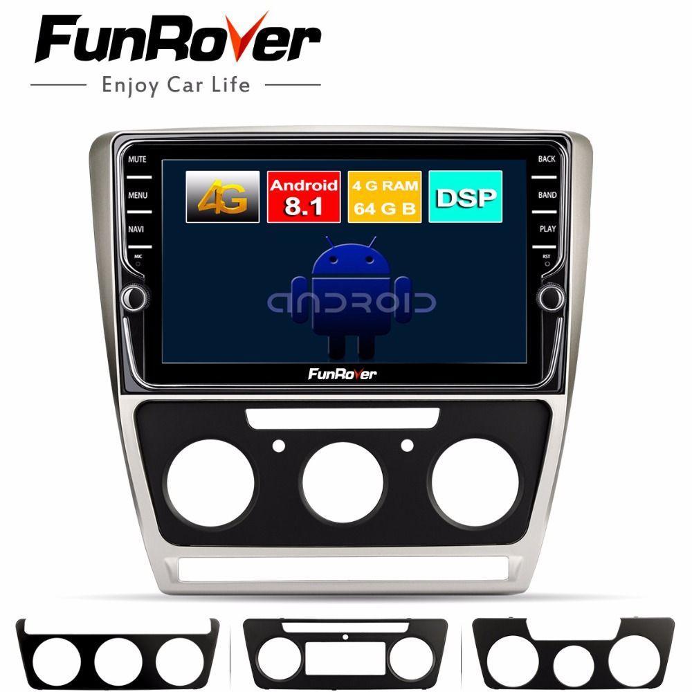 Funrover 8 core android 8.1 2 din auto-dvd-multimedia Für Skoda Octavia 2008-2013 EINE 5 A5 Yeti Fabia gps navigation Split-screen
