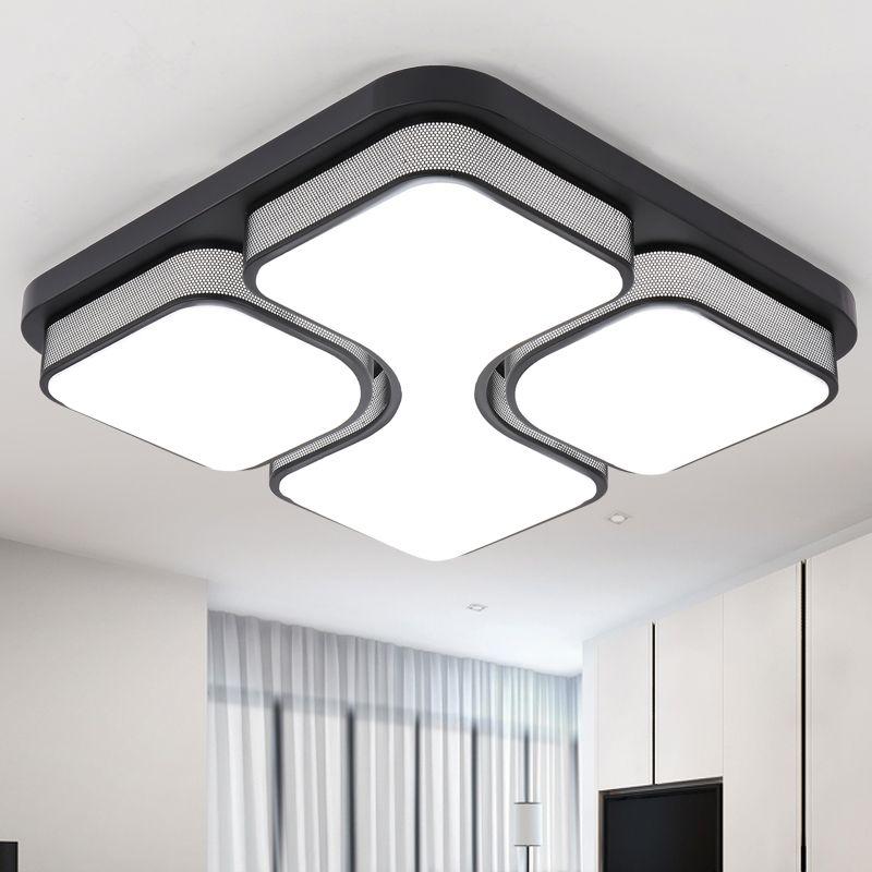 Moderne Led Plafond Lampe Industrielle Maison Luminaire Télécommande Plafond Lumières Pour Salle À Manger Chambre Plafondlamp Avize