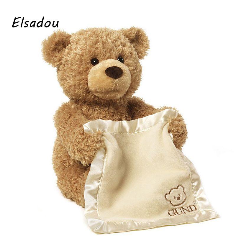 Elsadou 30 cm Teddy Ours En Peluche et Animaux En Peluche Jouet Poupée