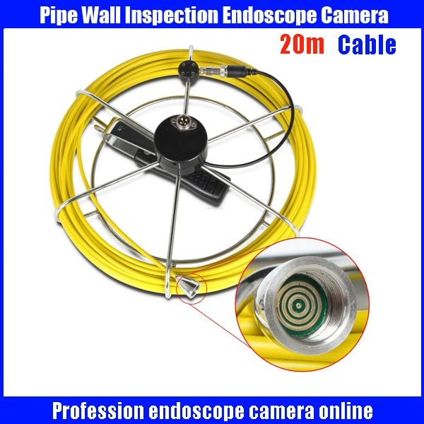 20m Profession Fiberglass cable for Snake UnderWater Sewer Drain Pipe Inspection Endoscope Camera
