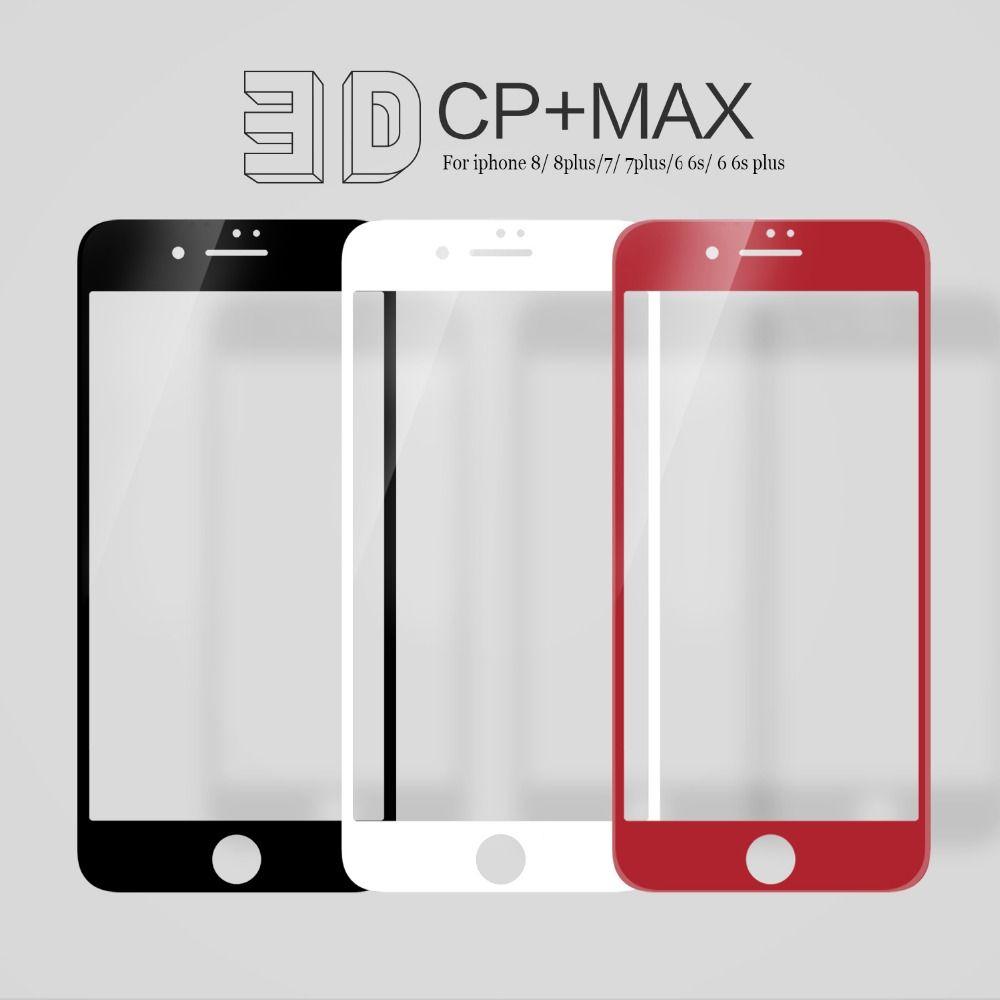 Für iPhone 6 s Plus Full coverage NILLKIN Erstaunlich 3D CP + MAX Nanometer Anti-Explosion 9 H Gehärtetem glas Für iPhone 8/7/6 abdeckung