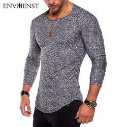 Envmenst O-Neck Slim Fit Sweater Men 2019 Fashion Spring Thin Pullover Men Homme Leisure Solid Color Sweater
