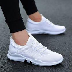 UBFEN cómoda de moda Popular zapatos casuales blancos bajo precio marca zapatos hombres transpirable adulto calzado ligero zapatillas