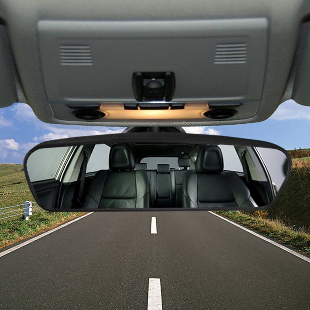 Car Rear Mirror Wide-angle Rearview Mirror Auto Convex Curve Interior Rear View Mirror With PVC Sucker 200*60mm