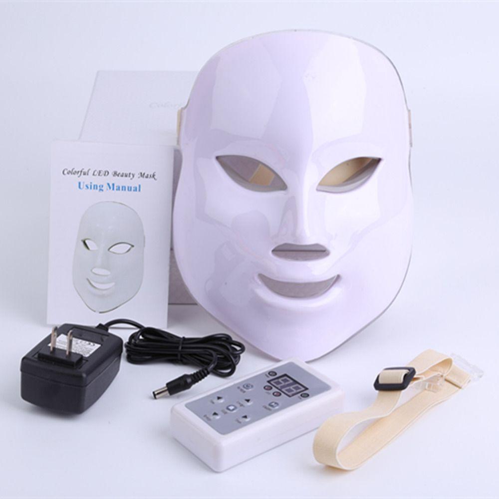 Корейский фотодинамическая led маска для лица дома Применение Приспособления для красоты анти-акне омоложения кожи СИД фотодинамическая Кр...