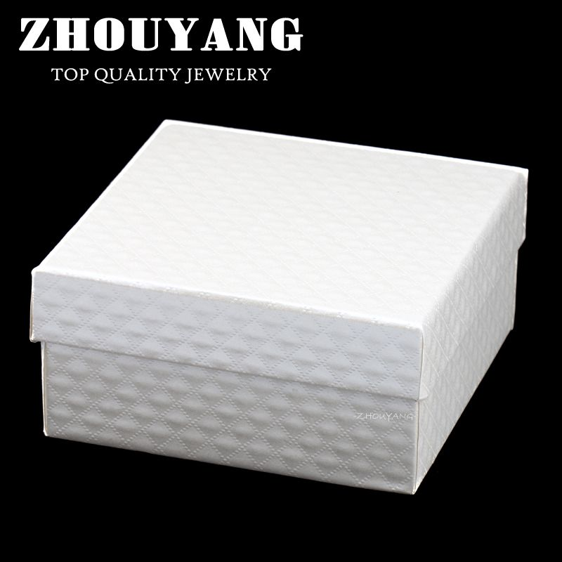 ZY-JPS001 Top Quality Royal Style CZ Cut Lines PU Embossing Princess White Color PACKAGING Jewelry BOX For Sets and Bangle
