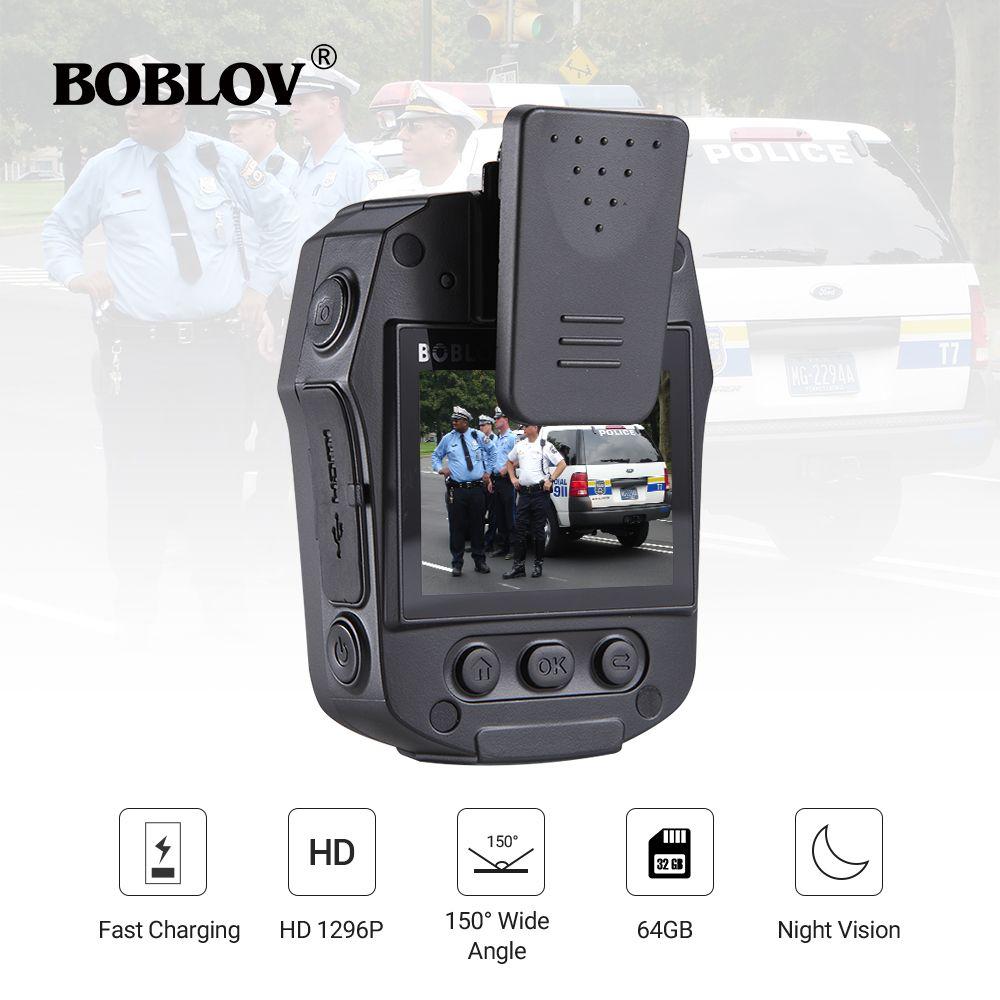 BOBLOV PD50 FULL HD 1296P body camera police IR Night Vision mini camara policial Video Recorder DVR WDR Security Pocket Camara