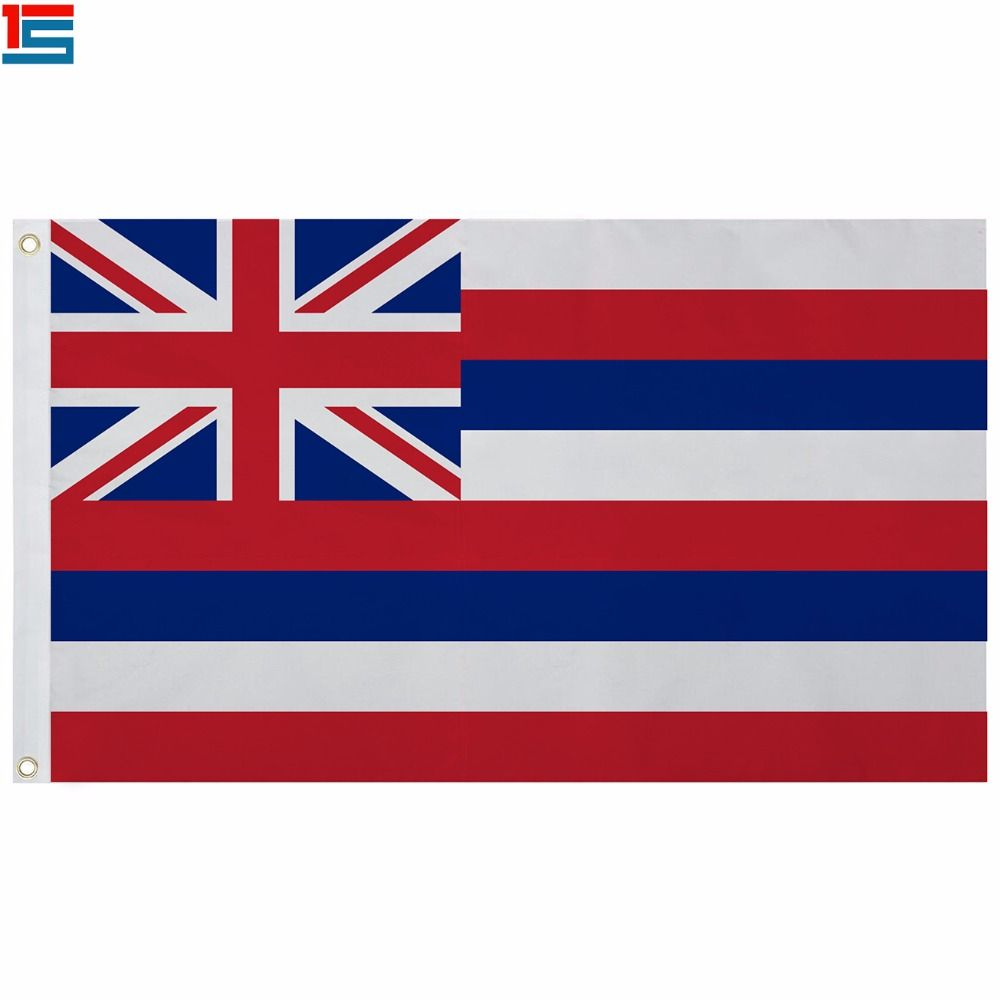 2018 neue Ankunft Die UNS Hawaii state flag Polyester Flagge 5*3 FT Hohe Qualität Banner