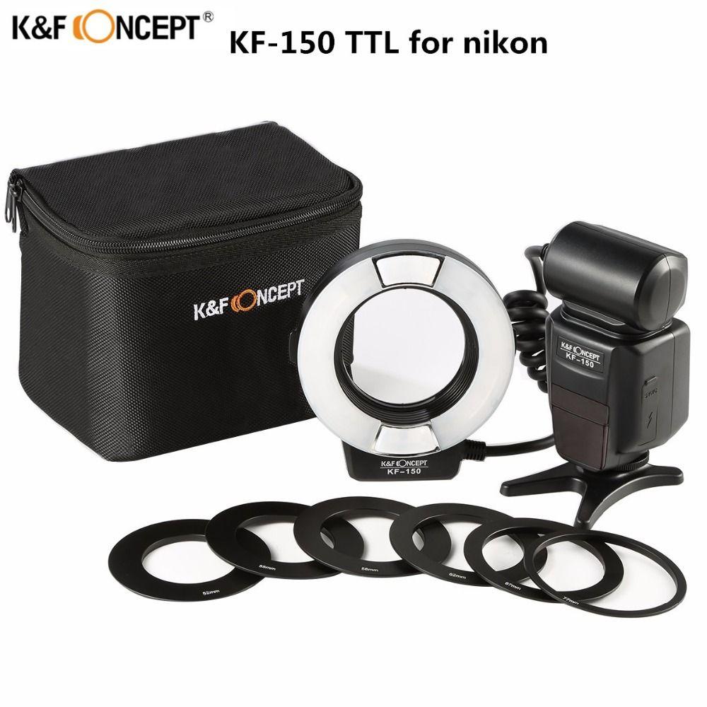 Le plus récent K & F CONCEPT KF-150 Flash Speedlite Master Slave 14GN TTL Speedlight avec réflecteur pour appareil photo Nikon D3300 D5300 D7200