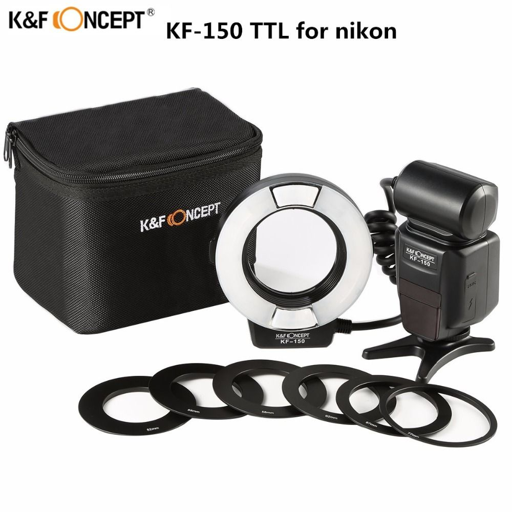 Newest K&F CONCEPT KF-150 Flash Speedlite Master Slave 14GN TTL Speedlight With Reflector For Nikon Camera D3300 D5300 D7200