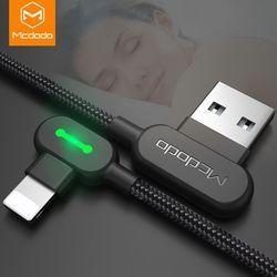 Mcdodo cable USB para iPhone Apple x 10 7 6 5 6 s más cable de carga rápido del teléfono móvil adaptador del cable del cargador del cable de datos USB