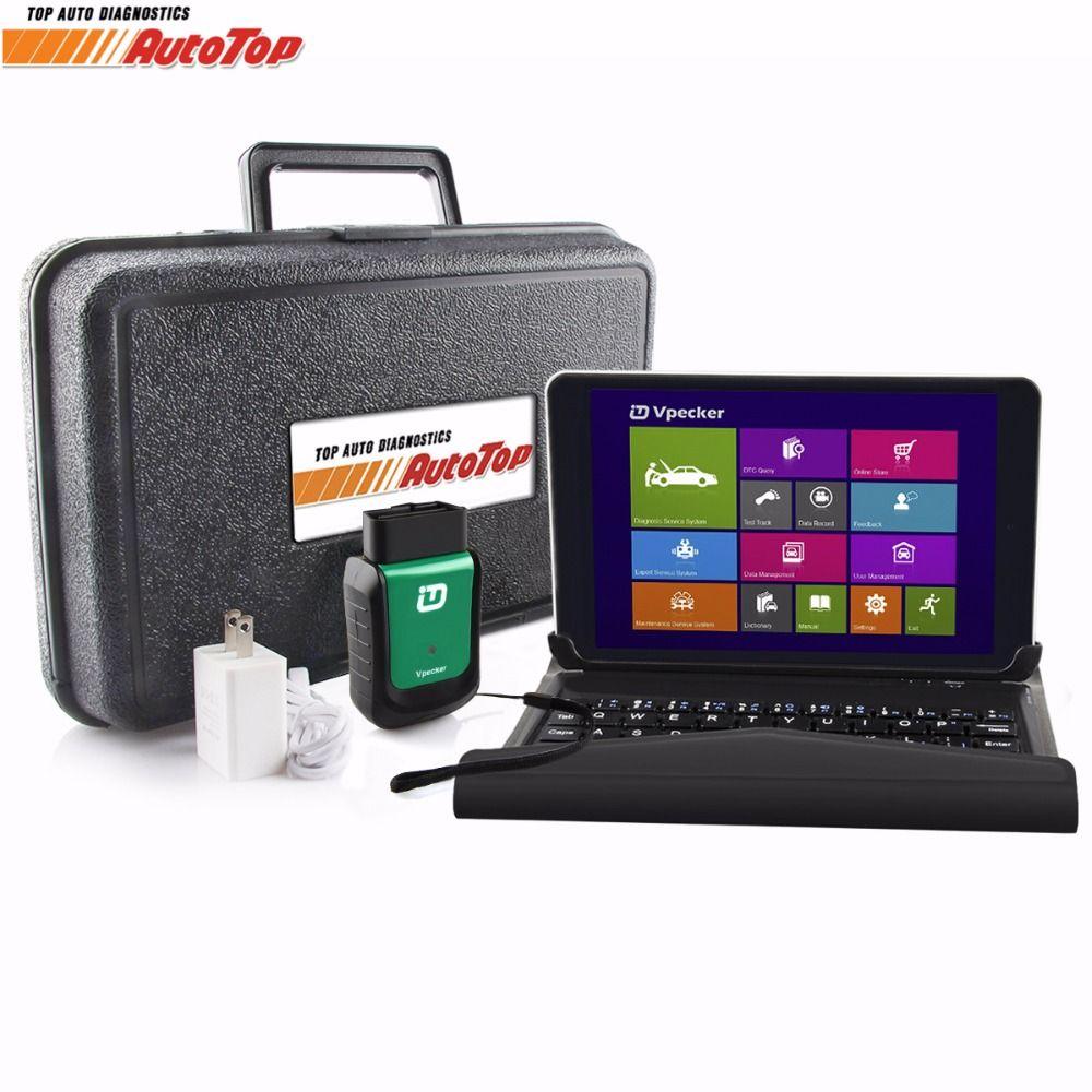 2018 Vpecker Easydiag V10.6 OBD 2 Automotive Scanner OBD2 Wifi Autoscanner+ 8 inch Windows 10 Tablet Auto Diagnostic Scanner