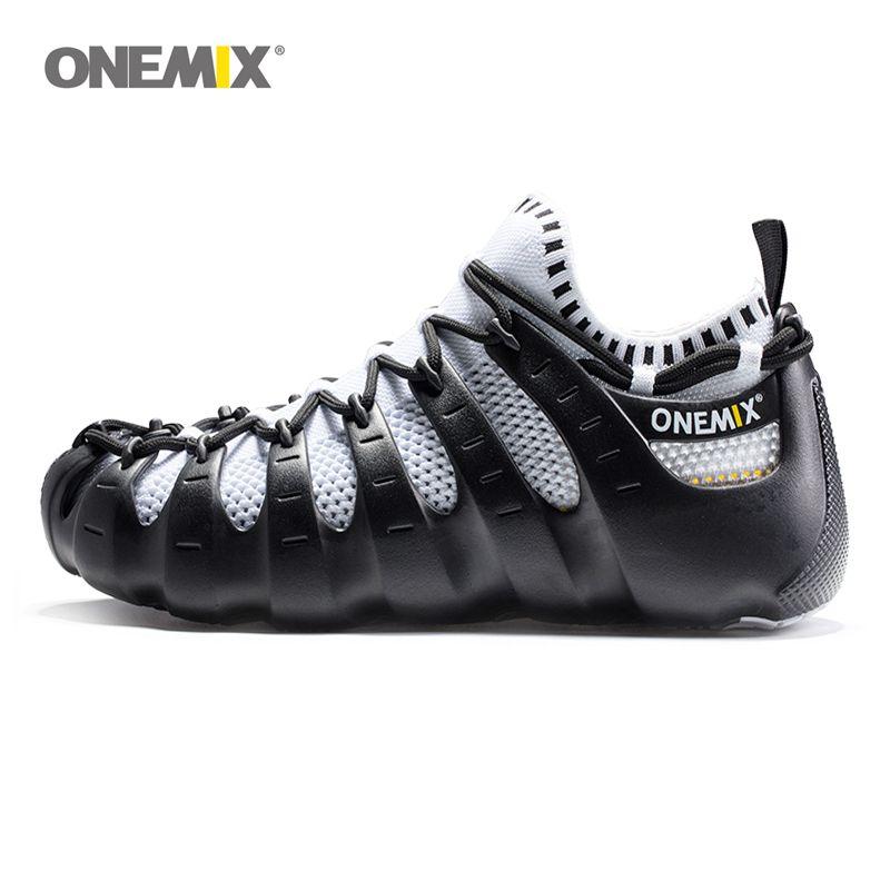 Onemix Rome chaussures gladiateur set chaussures hommes et femmes chaussures de course jogging chaussures de marche en plein air chaussures de sport chaussette-like 1230