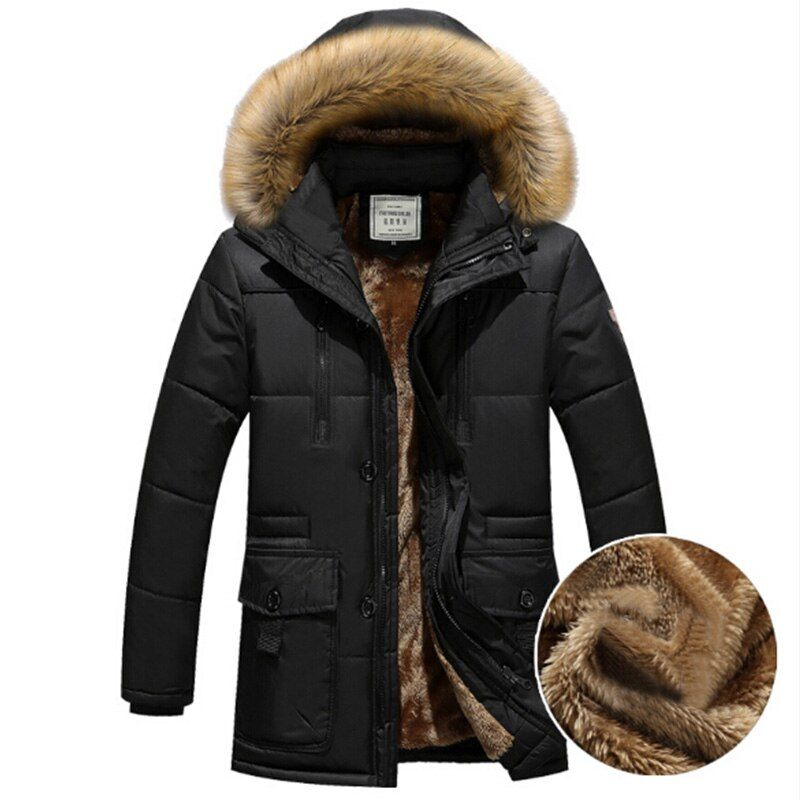 Fashion Winter Jackets Thick Warm Men Solid Jacket High Quality Casual Fur Collar Hooded Jacket Outerwear Men Parkas M-4XL 2018