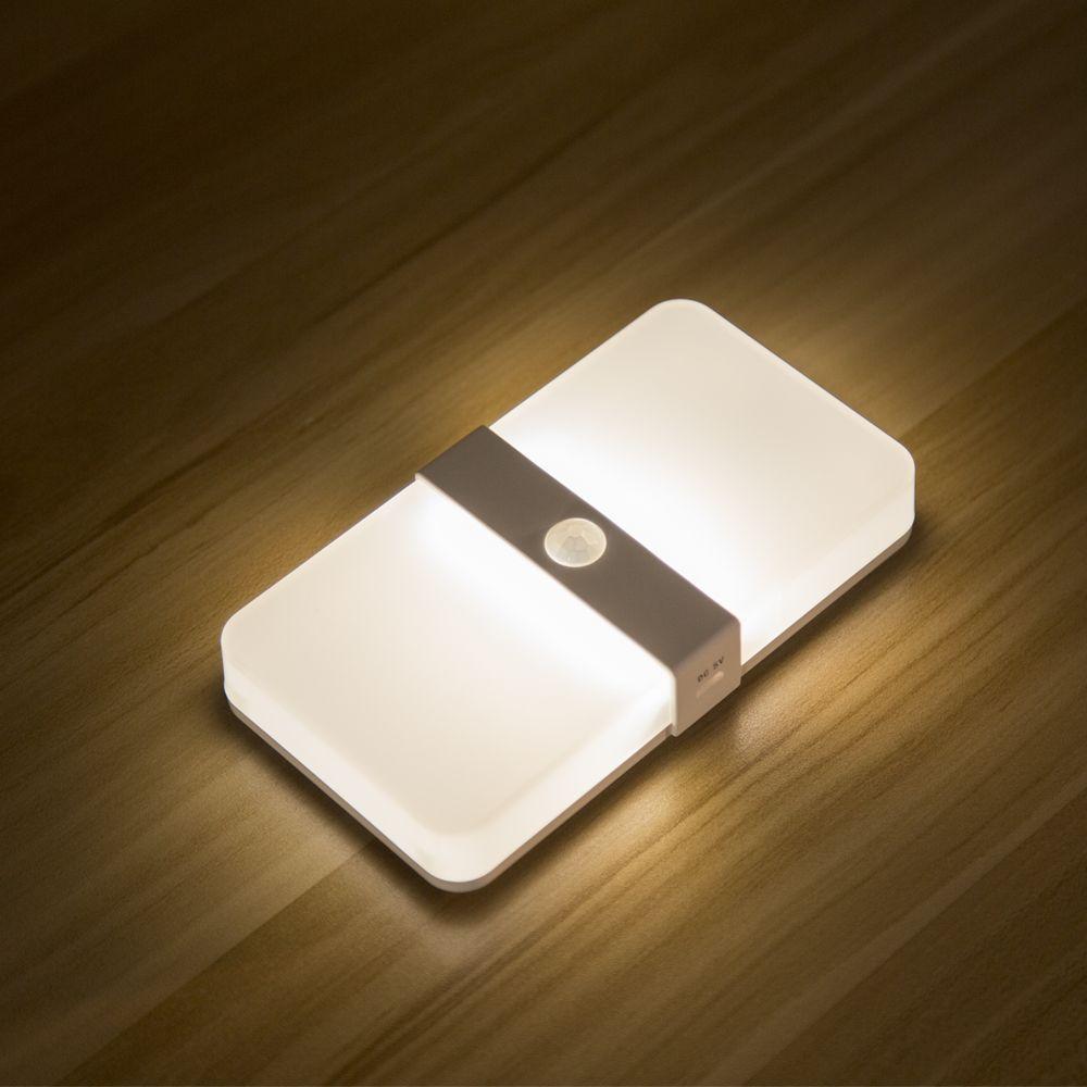 Zwei farbe wiederaufladbare Magnetische Motion Sensor führte kabinett Licht auto on off PIR sensor Wand Lampe schlafzimmer Treppen nacht Licht