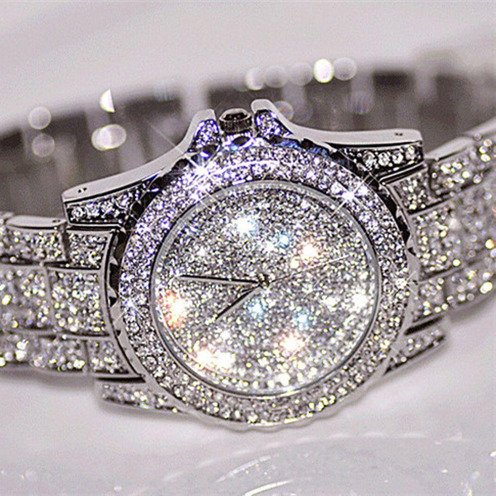 2017 New <font><b>Arrival</b></font> Luxury Women Watches Rhinestone Crystal Wristwatch Lady Dress Watch Men's Luxury Analog Quartz Watches Relogio