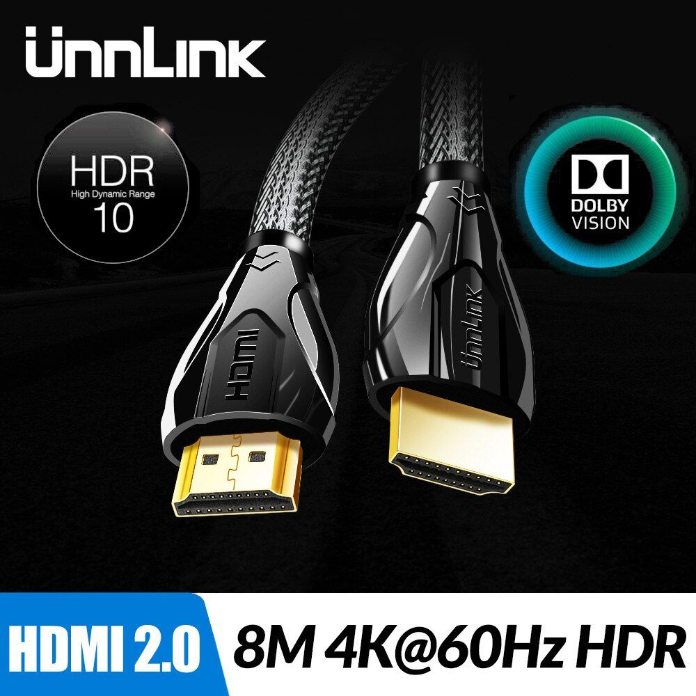 Unnlink Long HDMI Cable UHD 4K@60Hz HDMI 2.0 HDR 3M 5M 8M 10M 15M 20M 25M for Splitter Switch PS4 TV Mi xbox Projector Computer