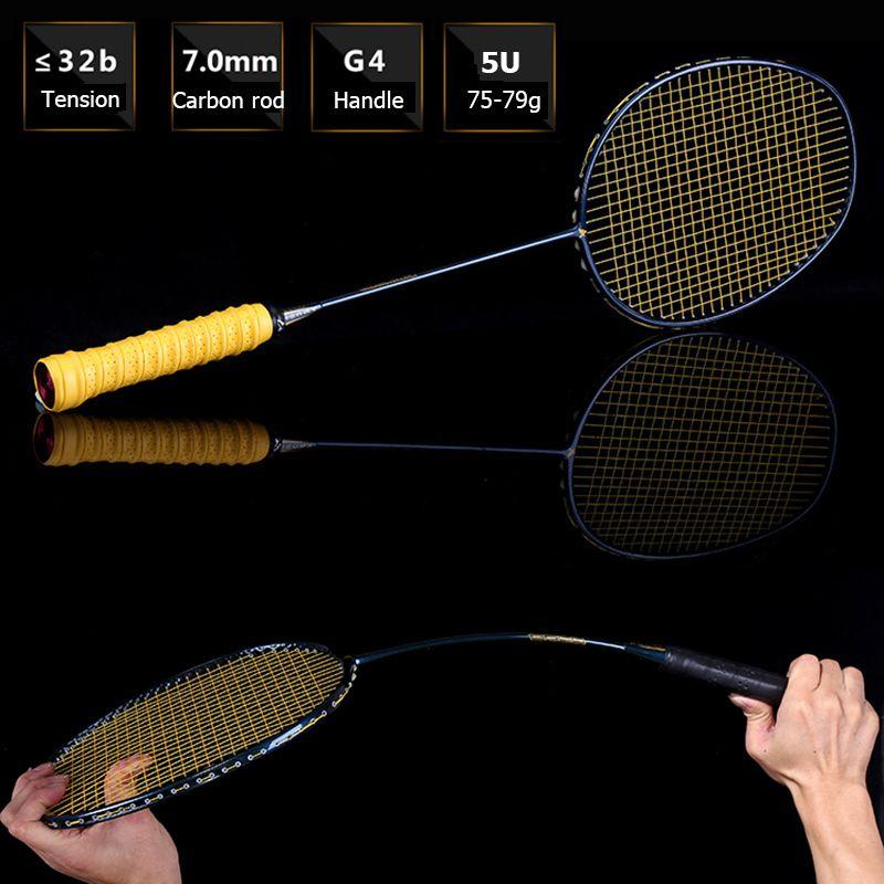 LOKI Galaxy Green Hohe Spannung Badminton Schläger Super Licht Carbon Badminton Schläger 75g 22-32 LBS kostenloser Over
