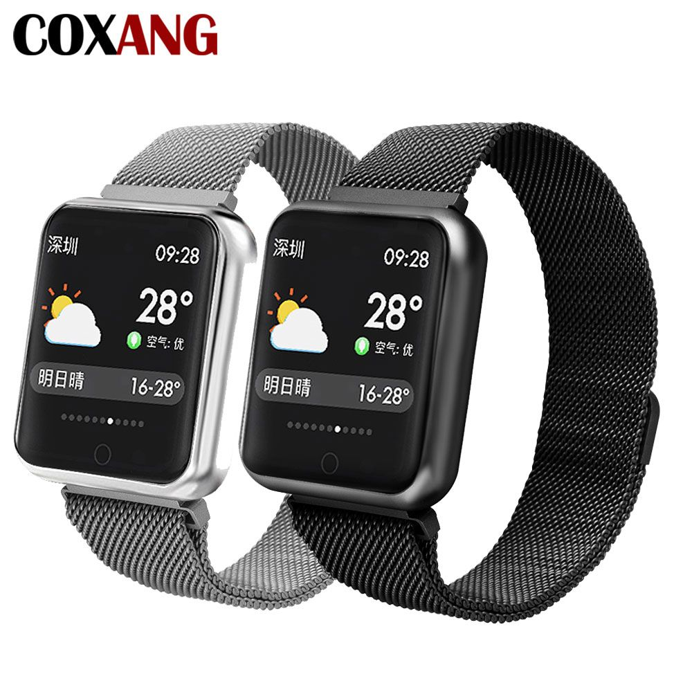 COXANG P68 Smart Watch For Men Blood Pressure Pedometer Activity Tracker IP68 Waterproof Smartwatch For Apple IOS Iphone Android