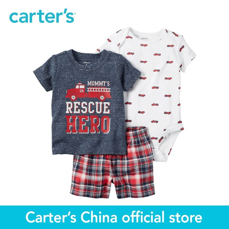 Carter's 3pcs baby children kids Little Short Set 121H166,sold by Carter's <font><b>China</b></font> official store