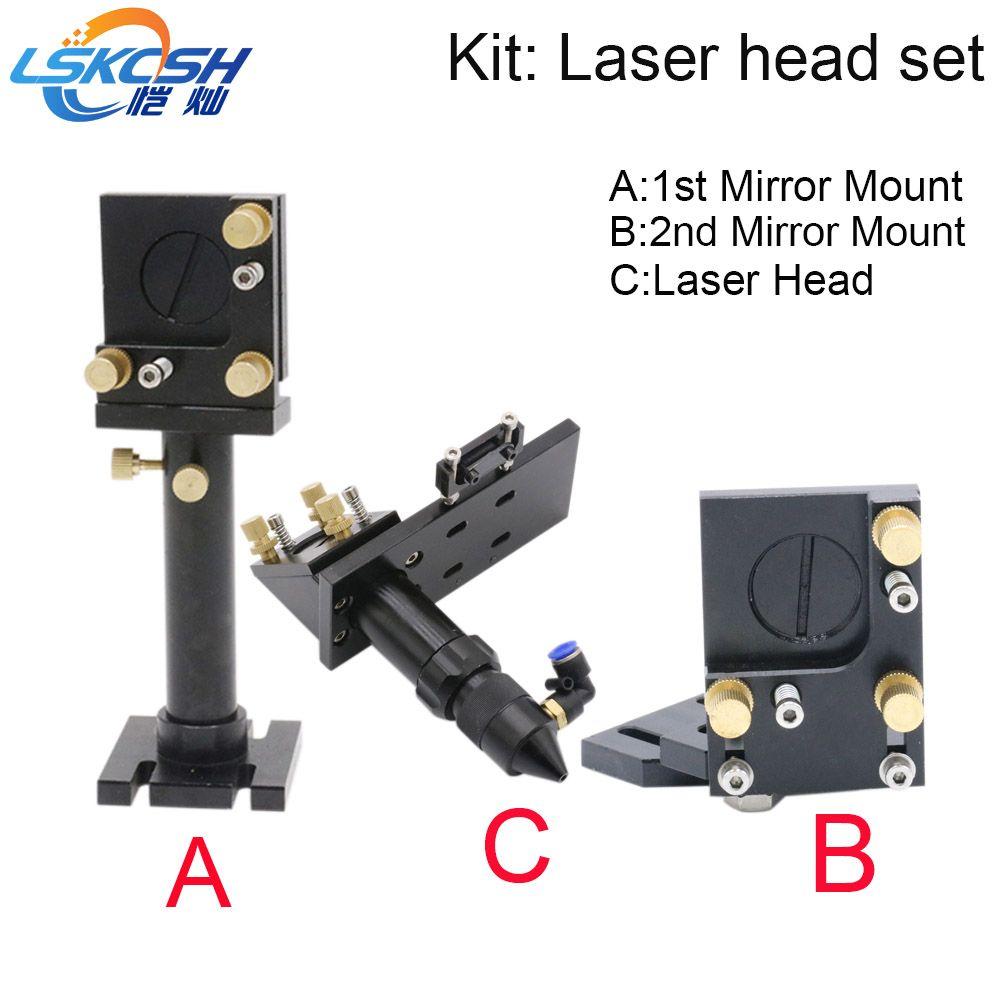 LSKCSH Co2 laser kopf set/Spiegel halterung Für Co2 laser gravur schneiden maschinen großhandel agenten wollte Objektiv Leuchte
