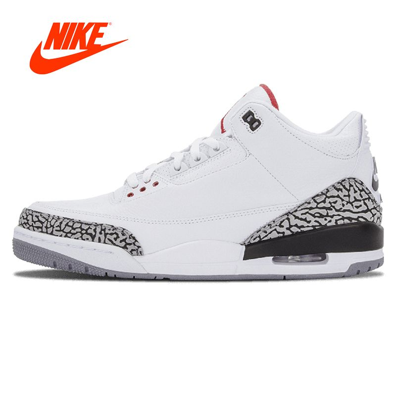 Original New Arrival Authentic Nike AIR JORDAN 3 RETRO '88 AJ3 OG Joe 3 White Men's Basketball Shoes Sneakers Sport 580775-160
