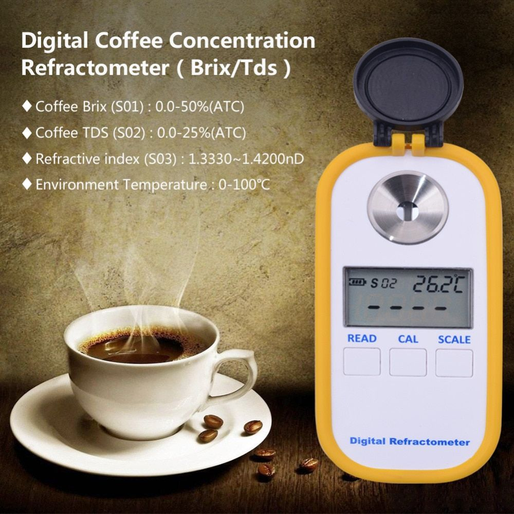 Portable 0-50% Bailey Coffee Brix Refractometer TDS 0-25% DR701 Digital Coffee Concentration Refractometer Measurement Tool