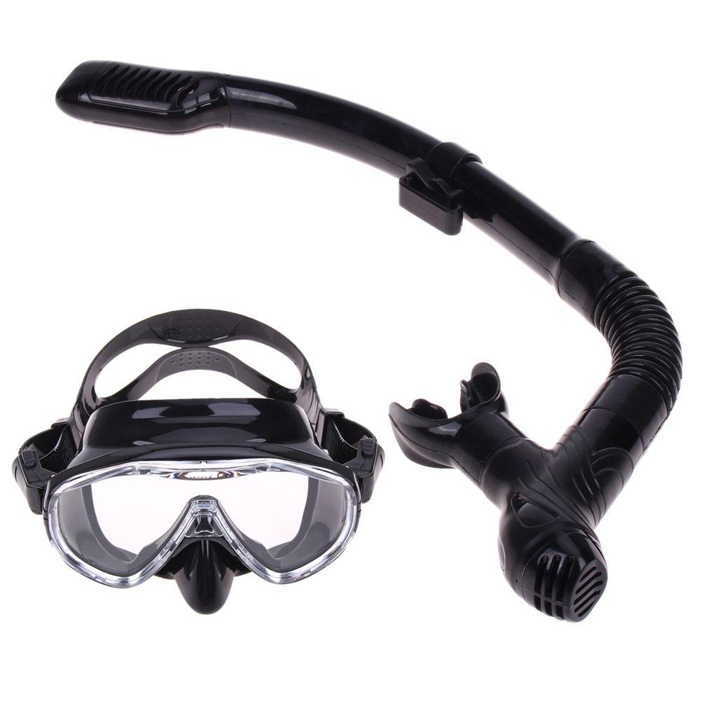 Professional Silicone Diving Mask Anti-Fog <font><b>Goggles</b></font> Glasses Snorkel Breathing Tube Set Swimming Fishing Pool Equipment