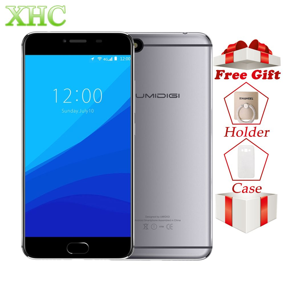 UMIDIGI C NOTE 3GB+32GB Smartphones Fingerprint ID 5.5 inch 1920x1080 pixels Android 7.0 MTK6737T Quad Core 4G LTE Mobile Phones