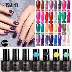 ROSALIND Gel Nail Polish All For Manicure Set 7ML Semi Permanent Vernis UV Top Coat Nail Art Poly Gel Hybrid Varnish Gel Polish