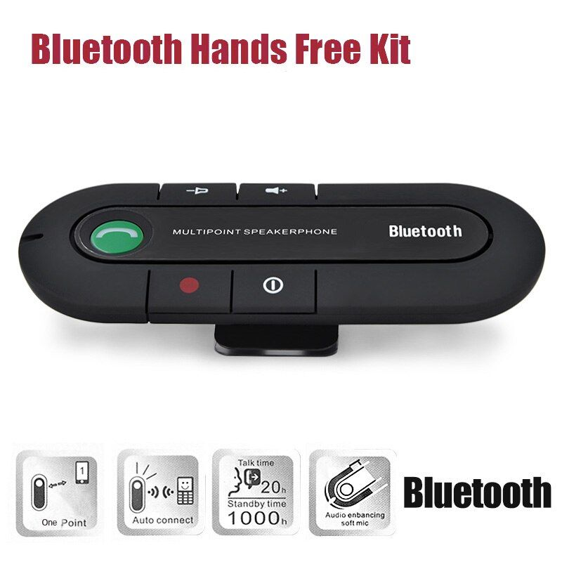 2017 Speakerphone Wireless Bluetooth Handsfree car speaker bluetooth Car Kit MP3 music Player For iPhone/Android receiver