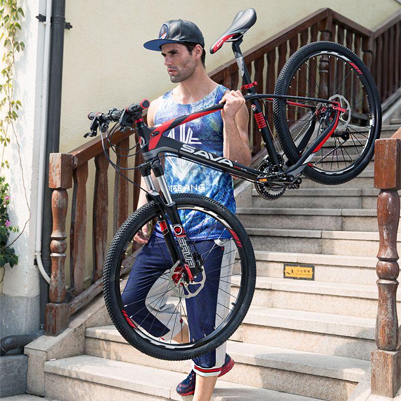 Новый бренд углеродного волокна 27 скорость 26 дюймов shiman0 M370 гидравлические дисковые тормоза на горном велосипеде открытый горных велосипед...