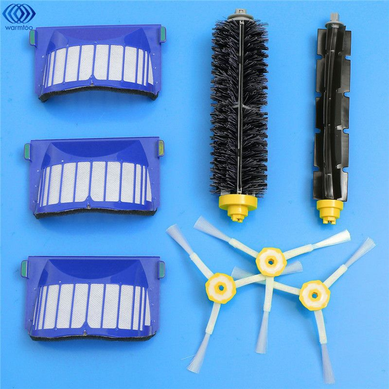 2017 Replacement Brush Filter,Side Brush,Bristle and Flexible Beater Brush Combo for iRobot Roomba 600 610 620 625 630 650 660