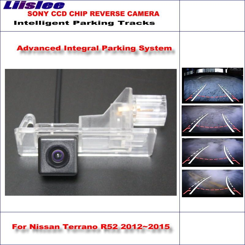 Liislee Backup Rear Reverse Camera For Nissan Terrano R52 / Pathfinder R52 2012-2015 / HD Intelligent Parking Tracks