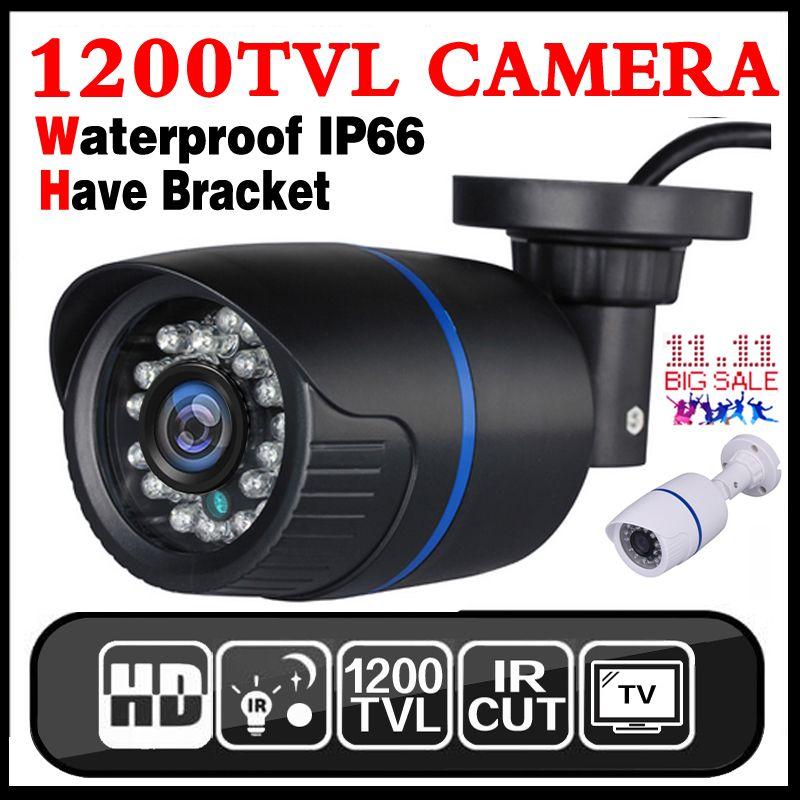Grand Saleing! Hd 1200TVL 1/3 cmos de Sécurité de Surveillance Vidéo Extérieure Imperméable IP66 CCTV Analogique Caméra infrarouge de Vision Nocturne 30 m