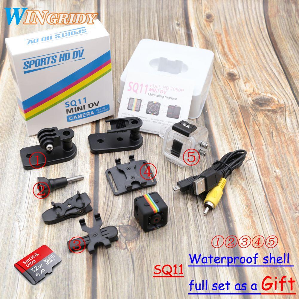 Original Mini Kamera SQ11 HD 1080 P Hohe Qualität Wasserdichte shell CMOS Sensor Nachtsicht Recorder Camcorder Micro DVR DV bewegung