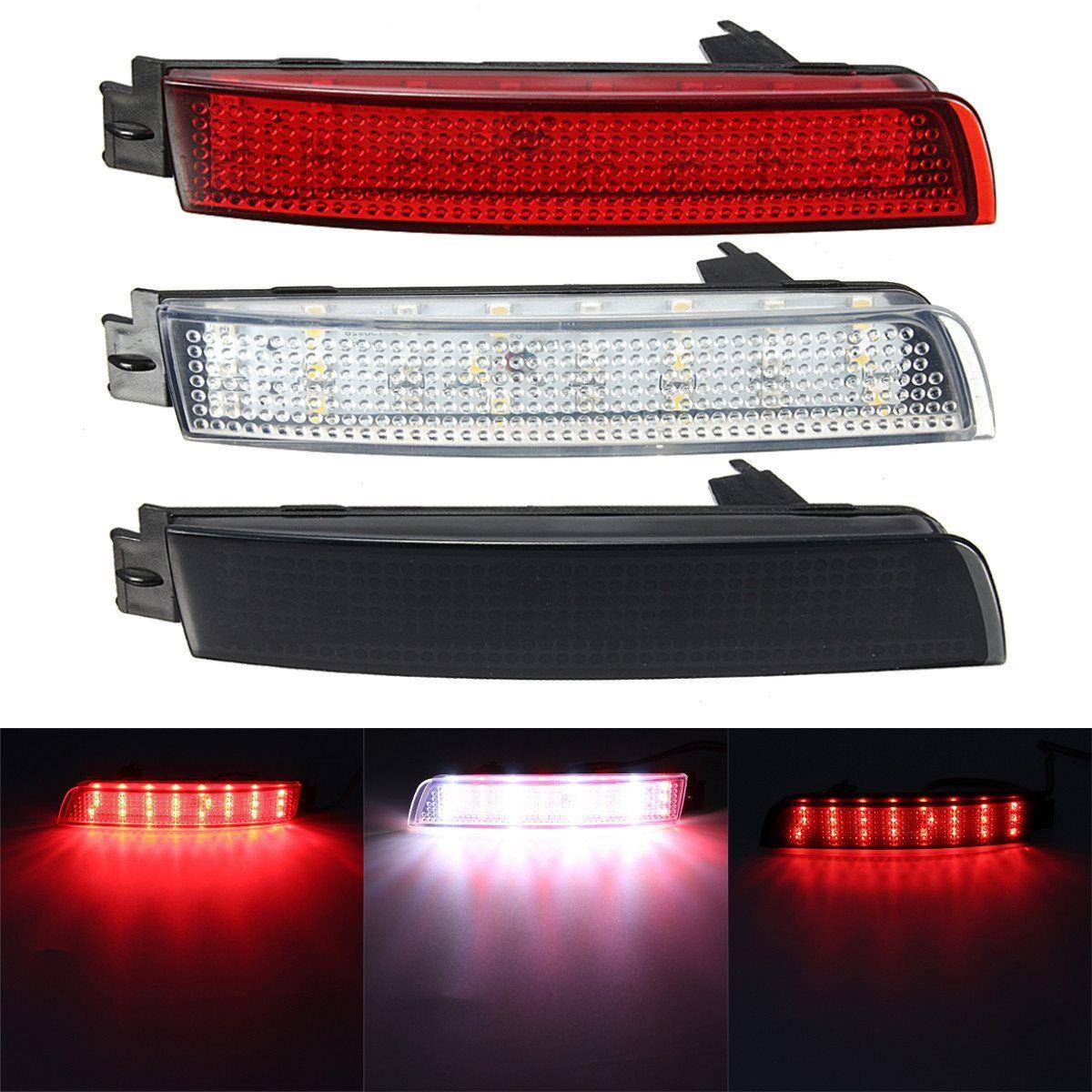 2 PCS LED Bumper Reflector Red lens Tail Brake Light Lamp For Nissan Juke/Murano/Infiniti FX35/FX37/FX50