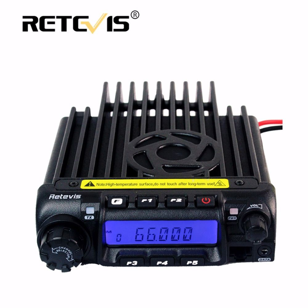 Retevis RT-9000D Mobile Car Radio Transceiver VHF 66-88MHz (or UHF) 60W 200CH Scrambler Walkie Talkie+Speaker MIC+Program Cable