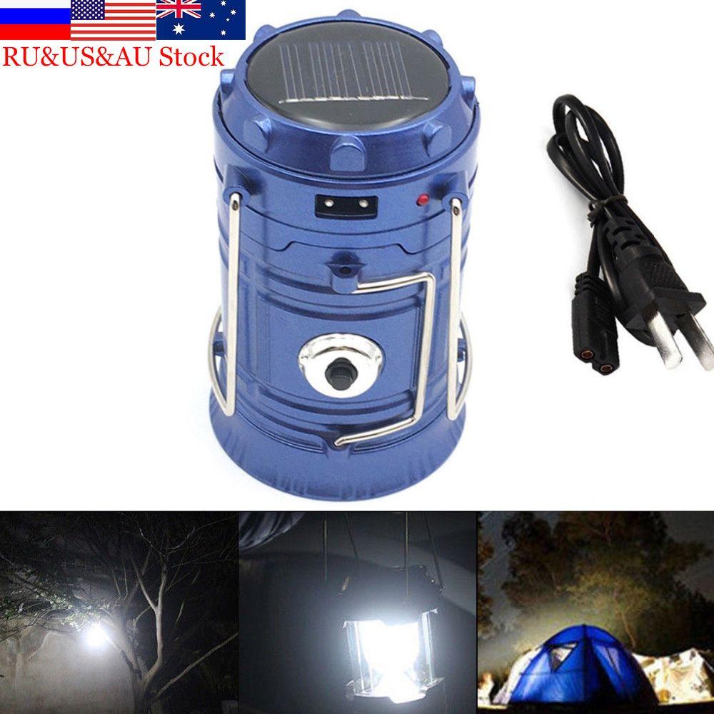 ZK50 de Poche En Plein Air Luminaire LED 6 Led Solaire Puissance Pliable Portable LED Rechargeable Main Lampe Camping Lanterne Lumière